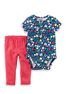 Carter's 2-Piece Floral Body Suit And Pants Set