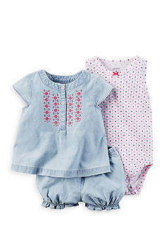 Carter's 3-Piece Bodysuit and Diaper Cover Set