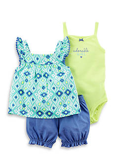 Carter's® 3-Piece Neon Bubble Short Set