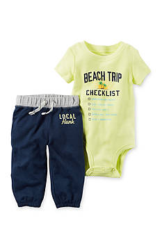 Carter's® 2-Piece Beach Checklist Bodysuit and Pants Set