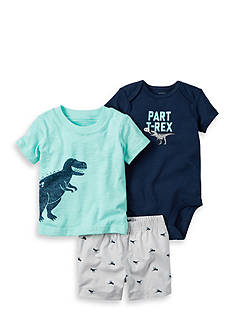 Carter's® 3-Piece Dinosaur Bodysuit and Shorts Set