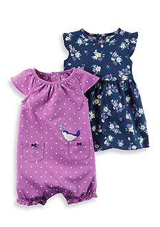 Carter's® 2-Pack Dress and Romper Set
