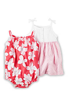 Carter's® 2-Piece Floral Dot Dress and Bodysuit Set