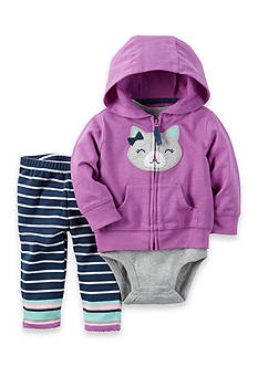 Carter's 3-Piece Cat Onesie, Jacket, and Pants Set