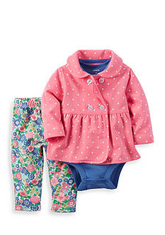 Carter's® 3-Piece Cardigan, Onesie, and Floral Pants Set