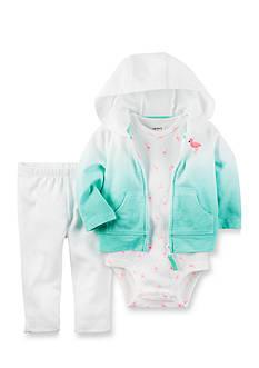 Carter's 3-Piece Flamingo Jacket Set