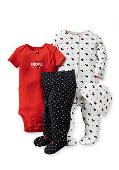 Carter's® 4-Piece Scottie Dog Sleep and Play, Bodysuit, Pants and Hat Set