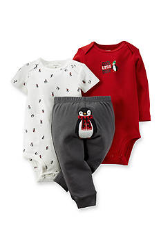 Carter's® 3-Piece Penguin Bodysuits and Pant Set