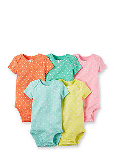 Carter's® 5-Pack Assorted Polka Dot Bodysuits