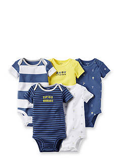 Carter's® 5-Pack Assorted Nautical Bodysuits