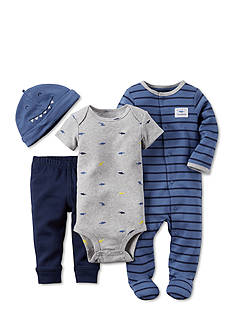 Carter's® 4-Piece Shark Stripe Sleep and Play Set