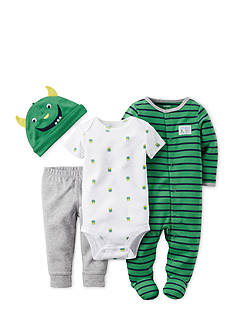 Carter's® 4-Piece Monster Stripe Sleep and Play Set