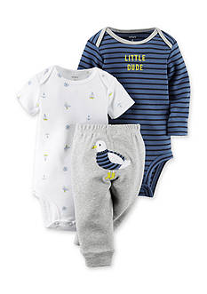Carter's® 3-Piece Stripe Printed Bodysuit and Pant Set