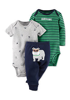 Carter's® 3-Piece Printed Bodysuits and Bulldog Pant Set