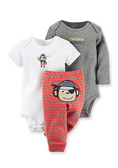 Carter's® 3-Piece Printed Bodysuits and Pirate Monkey Pant Set