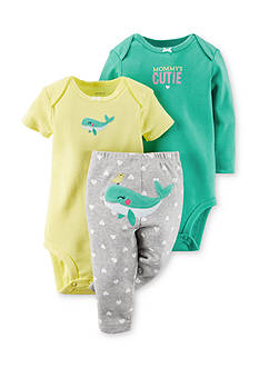 Carter's® 3-Piece Printed Bodysuits and Whale Pant Set