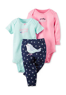 Carter's® 3-Piece Printed Bodysuits and Pant Set