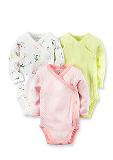 Carter's® 3-Pack Side Snap Floral Bodysuits