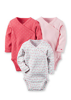 Carter's 3-Pack Side Snap Print Bodysuits