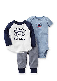 Carter's 3-Piece Football Bodysuit & Pants Set