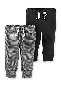 Carter's® 2-Pack Solid & Stripe Pants