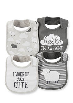 Carter's® 4-Pack Sheep Bibs