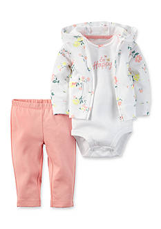 Carter's® 3-Piece Floral Cardigan and Pants Set