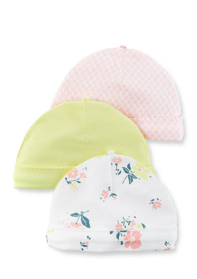 Carter's® 3-Pack Floral Caps