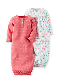 Carter's 2-Pack Geo and Dot Print Gowns