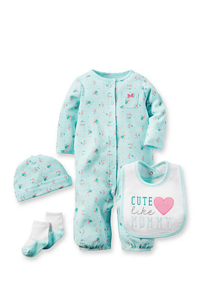 Carter's® 4-Piece Heart Pajama Set