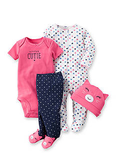 Carter's® 4-Piece 'Little Cutie' Cat Set
