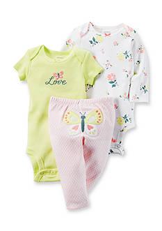Carter's® 3-Piece Butterfly Bodysuit & Pants Set