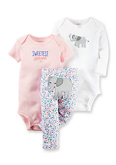 Carter's® 3-Piece Elephant Floral Pant Set