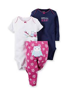Carter's® 3-Piece 'Cute Like Mommy' Bodysuit & Pants Owl Set