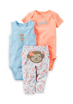 Carter's® 3-Piece Monkey Pants Set