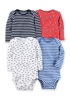 Carter's® 4-Pack Long-Sleeve Bodysuits