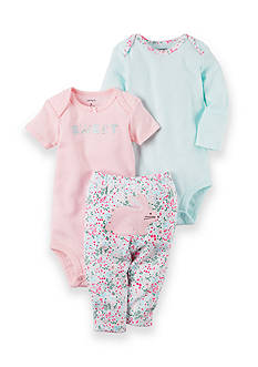 Carter's® 3-Piece Bunny Bodysuits and Pant Set
