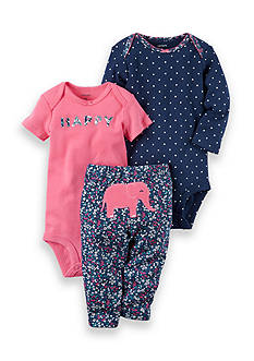 Carter's® 3-Piece Elephant Bodysuits and Pant Set