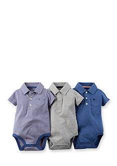 Carter's® 3-Pack Assorted Polo Bodysuits
