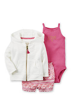 Carter's® 3-Piece Cardigan and Short Set