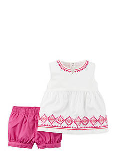 Carter's® 2-Piece Embroidered Short Set