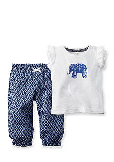 Carter's® 2-Piece Elephant Pant Set