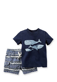 Carter's® 2-Piece Whale Tee and Short Set