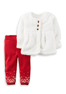 Carter's 2-Piece Sherpa Top And Sweater Pant Set