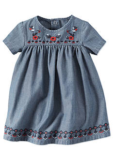 Carter's Embroidered Denim Dress