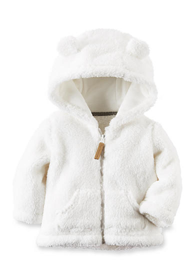 Carter's® Hooded Sherpa Zip-Front Jacket