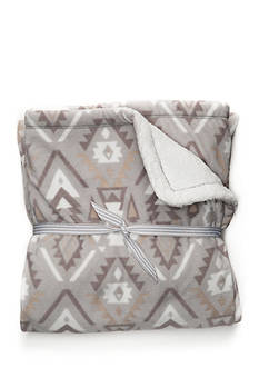 Carter's Sherpa Blanket - Gray Aztec
