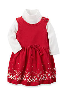 Carter's® 2-Piece Sweater Dress And Bodysuit Set