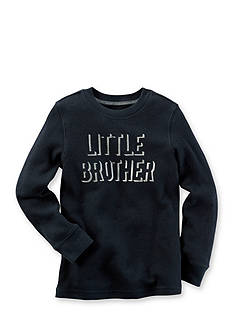 Carter's® Long-Sleeve Foil Print Little Brother Graphic Tee