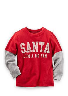 Carter's Santa Fan Christmas Tee